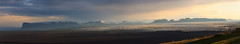 Skeiarrjkull Panorama (Chris Haigh) Tags: park sunset panorama iceland glacier national stitched sland midnightsun vatnajokull lightroom 11pm skaftafell 2015 skeiarrjkull 4images chrishaigh