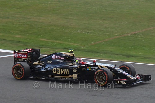 Pastor Maldonado in qualifying for the 2015 British Grand Prix at Silverstone