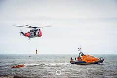 Air rescue (Bennett Photography - jonyb466) Tags: ocean show sea rescue swansea boat force air royal helicopter hanging raft