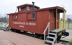 South Lyon, Michigan (3 of 8) (Bob McGilvray Jr.) Tags: southlyon michigan caboose wood wooden red cupola co chesapeakeohio railroad train tracks display public museum depot