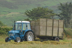 Ford 6610 Tractor with a Silage Trailer