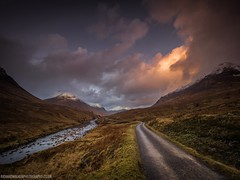 Highland Valley (Richard Walker Photography) Tags: cloud clouds countryside desolate dramatic em1 glencoe goldenhour highlands landscape landscapephotography nature omd ruralscene scenery scenic scotland sky snowy snowcapped snow sunrise unitedkingdom wild