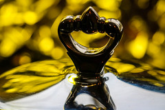 """Made of Metal""  -- HMM (Jessie T*) Tags: macromondays madeofmetal macro macrophotography reflections bokeh yellow"
