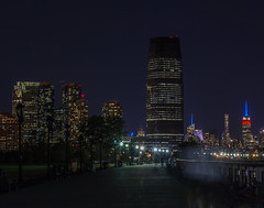 IMG_0080 (JeriKenney) Tags: 911memorialbeamsoflight 91116 freedomtower libertystatepark nyskyline night