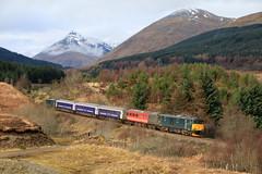Empty Sleeper at Dalrigh (60044) Tags: serco gbrf class 73 73967 73970 5y11 caledonian sleeper west highland line network rail whl tyndrym oban polmadie ecs virgin trains mk2
