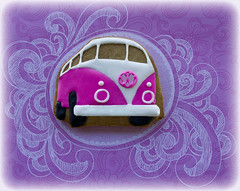 Campervan (Cute Sweet Thing) Tags: pink blue sun green vw fun surf cookie retro iced combi campervan 1960