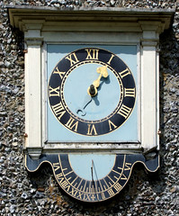 clock and sundial (Simon_K) Tags: nethergate saxlingham