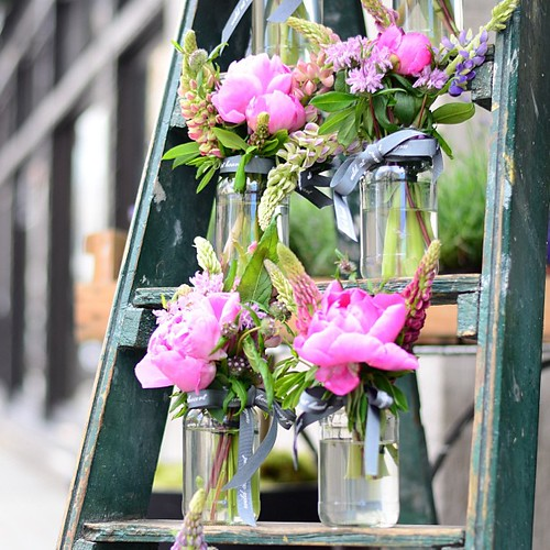 Fresh Flowers In Jam Jars Flowers Fresh London Spring Jamjar