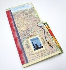 Travel Journal - Spain (daily threads) Tags: travel spain europe hand map handmade journal file stamp espana folder postage crafted