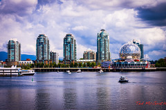 Stanley Park Seawall - 09 Jun 2013-25/26 (Ted's photos for you) Tags: skyline vancouver walk seawall dome highrise falsecreek condos scienceworld cityview citygate falsecreekferries falsecreekferry 09jun tedsphotos