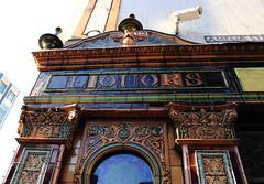 Liquors (avalard) Tags: heritage architecture vintage victorian belfast tiles northernireland pubs nationaltrust thecrown countyantrim publichouse oddmanout