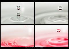 Mosaico (Bruno R.B S.) Tags: red macro reflection wet water gua lens agua nikon waterdrop sigma drop vermelho reflect 105mm d40 f29