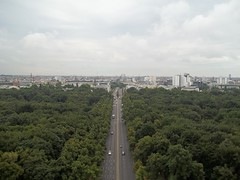 View from the top of the Siegessule (markhealey) Tags: berlin siegessule