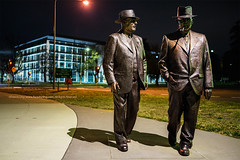 Honorable Strolls |  (francisling) Tags: new old party statue wales bronze zeiss 35mm john t prime hotel ben labor sony south capital australia parliament cybershot politicians canberra minister territory chifley curtin sonnar kurrajong    rx1         dscrx1