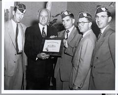 Conrad Hilton Receiving Award From Prisoners Of War (HiltonWorldwide) Tags: uniform military service 1956 veterans conradhilton hiltonworldwide hiltonhotelsandresorts conradnhilton