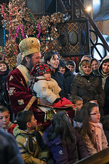 Orthodox Bishop with Children, Christmas, Pirot, Serbia (Tanjica Perovic) Tags: church serbia tradition orthodox crkva srbija serbian pravoslavie pirot serbianorthodoxchurch  pravoslavni   srpskapravoslavnacrkva   hramrozdestvahristovogpirot nativitychurchpirotserbia pirotsrbija  tanjicaperovicphotography  staracrkvapirotblogspotcom staracrkvapirotsrbija fotografijepirota