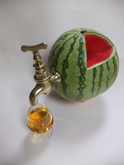 Watermelon Juicer Mk 2 (alanpeacock2) Tags: red green smile fruit magic homemade cheers whisky scotch melon brass skol guesswhat brasstap malt maltwhisky ontap bluelabel scotchwhisky blendedwhisky whiskymaker