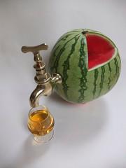 Watermelon Juicer Mk 2 (alanpeacock2) Tags: brass fruit melon green red whisky maltwhisky whiskymaker brasstap blendedwhisky bluelabel scotch scotchwhisky malt ontap cheers smile magic homemade skol guesswhat kickstarter recycled
