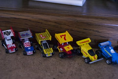 Micro Machine Race Track (Joe Grabianowski) Tags: cars mom toy toys still essay racing canvas plastic needlepoint