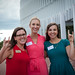 Park Scholarships alumnae show their pride after the announcement of the Park Foundation gift.