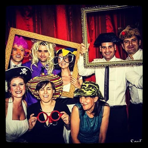 El equipo de Trigo celebrando el bodorrio de Iván Y Noelia. Vaya nochecita .........