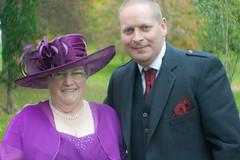 Margaret and myself (Just hit 5 million views) Tags: wedding groom bride kilt bridegroom inverness scalpay stornoway isleofharris drumossiehotel nessbankchurch catherineanddonaldmacleod