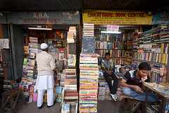 Book Market (Leonid Plotkin) Tags: india man book asia bookstore bookshop kolkata bengal calcutta westbengal bookseller bookmarket