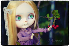 Pneuma (Art_emis) Tags: new art girl make up work hair photography doll long hand handmade drawing ooak character painted blond blythe custom phantom takara eyelids midle parted rbl reshaped