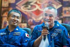 Expedition 38 Press Conference (201311060012HQ) (NASA HQ PHOTO) Tags: nasa kazakhstan baikonur mikhailtyurin cosmonauthotel baikonurcosmodrome koichiwakata billingalls expedition38 expedition38preflight