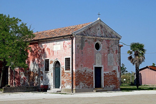 Small church in the lagoon