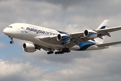 9M-MNF Heathrow 1 June 2013 (ACW367) Tags: heathrow airbus a380 malaysiaairlines 9mmnf