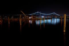 Newport Bridge (ronaldcri) Tags: nightphotography bridge water bay rhodeisland photoaday dailyphoto jamestown newportbridge narragansettbay project365 claibornepellbridge
