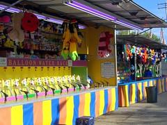 Balloon Water Race Carnival Game. (dccradio) Tags: carnival light game festival wisconsin fun fair athens plush entertainment midway prizes clowns wi flourescentlight carnivalgame communityevent marathoncounty athensfair gametrailer waterracing balloonwaterrace earlsrides