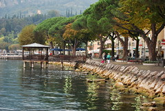 Evening stroll ..... (Halliwell_Michael ## Thanks you for your visits #) Tags: autumn trees italy reflection reflections garda lakes lakeside lakegarda autumncolour theworldwelivein 2013 nikond40x