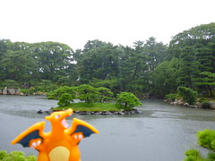Charizard in Hiroshima, Hiroshima 9 (Shukkei-en Garden) (Kasadera) Tags: toys hiroshima figure pokemon pokmon  charizard   glurak  shukkeiengarden pokemonkids   dracaufeu