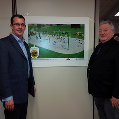 Monte was on hand to present an Ontario Trillium Foundation Grant to the Mt. Brydges Lions Club in support of their splashpad project.
