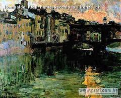 Romualdo Prati Ponte vecchio a Firenze di