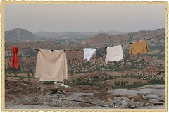 From the laundry point of view (vanilla leech) Tags: india mountains view laundry indien