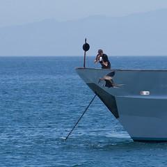 "_DSC6297 ""the Cameraman"" and the ""Flightless Cormorant"" ""Comoran no Volador"" (ChanHawkins) Tags: area punta april 12 magnificent fernandina fri espinoza thecameraman ""female pm"" ""galapagos shoreline"" frigatebird""""galapagos"