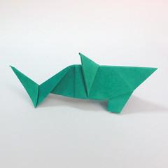 สอนวิธีการพับกระดาษเป็นรูปปลาฉลาม (Origami Shark) 042