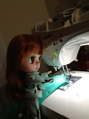 Verne is helping sew