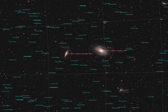 M81 & M82 - Bode's & Cigar galaxy (annotated) (ShoulderOps) Tags: light eos major ic space ngc deep cigar astro telescope filter galaxy nebula pollution goto pro modified service astronomy planetary galaxies supernova messier phd ts ursa cls annotated guiding teleskop cs3 quadruplet pgc m82 m81 apochromatic bodes ngc2976 ngc3077 pixinsight 1100d astronomik qhy5 neq6 65q tsapo65q shoulderops sn2014j