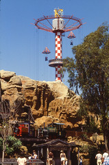 Sky Jump (jericl cat) Tags: tower fall k cabin neon ride icon drop 1970s thrill attraction parachute airfield knotts skyjump roaring20s berryfarm