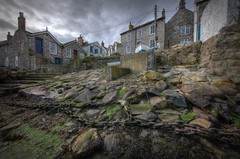 The Steps at Mousehole (Paul Merry) Tags: houses holiday seaweed water wall boats chains rust rocks cornwall harbour decay steps rusty rope dos hdr mousehole canon5dmk2