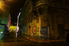 prêt-à-disparaître (*F~) Tags: light people urban portugal beauty architecture night ruins poetry colours decay lisboa obsession explore fantasy imagination renovation humans cinemaodéon
