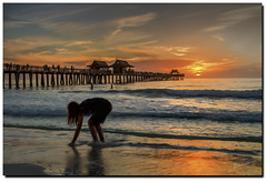 Therapy for the soul. (jeannie'spix) Tags: sunset water pier shelling np naplesflorida 2014 naplespier