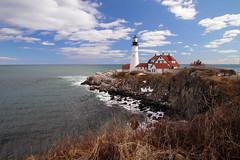 Portland Head Lighthouse, Maine (nelights) Tags: usa lighthouse portland day maine portlandheadlight capeelizabeth portlandhead cascobay portlandheadlighthouse wbnawneme pwpartlyclou