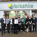 Charity launch at Yorkshire Building Society, High Street, Chalfont St Peter. Kerryanne COR Percival (Stokenchurch Dog Rescue), Cheryl Gillan MP, Sally Wrampling COR (Dreamflight), Ophelia Chambers-Henry (Michael Sobell Hospice) and staff.