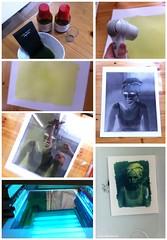making of a 40x50cm cyano (pixelwelten) Tags: exhibition ausstellung cyanotype altprocess cyano cyanotypie altproc pixelwelten rdigerbeckmann beyondvanity