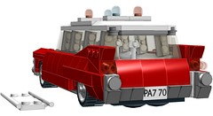 1959 Cadillac Ambulance (RS 1990) Tags: mod lego cadillac ambulance ideas hearse ghostbusters ecto1 21108 ecto1a